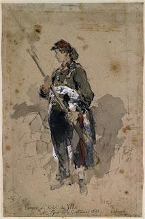 Daniel Urrabieta Vierge: Femme à l'Hôtel de Ville, deuxième jour de La Commune 1871