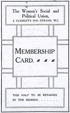 Kate's WSPU membership card
