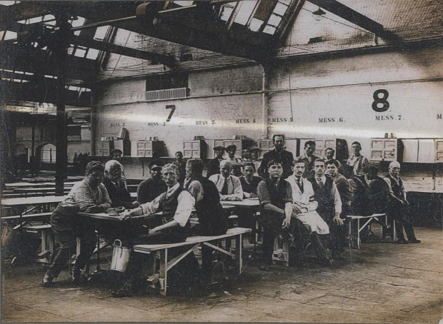 Stratford Camp- Mess Hall. Image copyright of the Imperial War Museum & Newham Archives