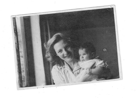 The author with her mother, May 1945