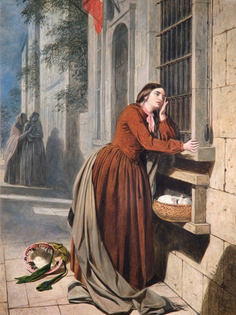 Henry Nelson ONeil, 'A Mother Depositing Her Child at the Foundling Hospital in Paris', 1855 © The Foundling Museum