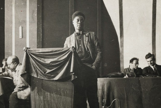 Claude McKay addressing the Fourth Congress of the Comintern, Moscow in 1922.