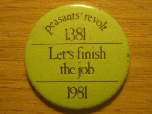 Peasants' Revolt badge