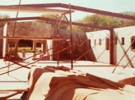 Construction of Al Noor mosque in the 1980s. Source: Radio NZ