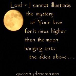 Quote by deborah ann ~ God's Love ~