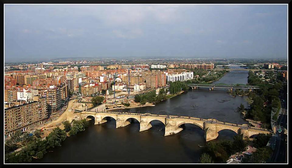 Saragossa panorama miasta
