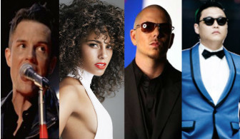 Alicia Keys, Pitbull, The Killers και Psy