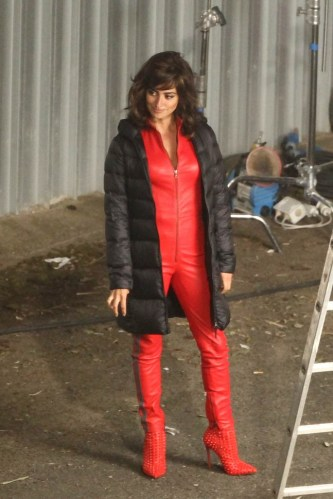 Penelope Cruz on set of 'Zoolander 2' in Rome - Part 1