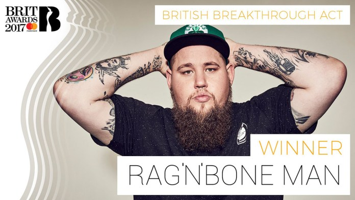 BRIT Awards 2017 - Rag'n'Bone Man - Hit Channel