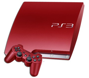 sony playstation 3 ps3 scarlet red 320gb console