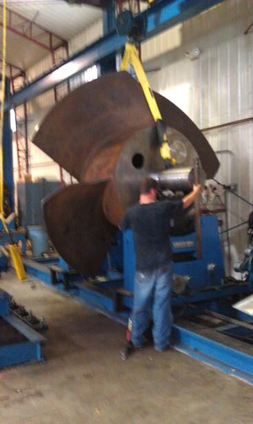16,000 pound impeller for Providence Rhode Island Hurricane Barrier Pump Station