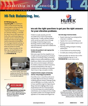 HI-TEK Balancing is a Leader in Engineering