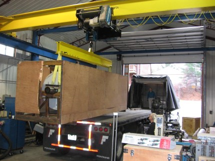 22000 pound overhead bridge crane
