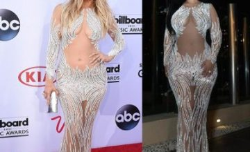 Between Jennifer Lopez And Tammy Rivera, Who Rocked This Sheer Beaded Dress Better