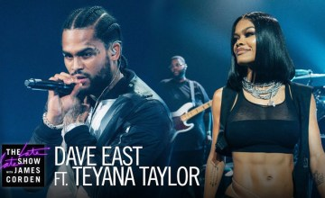 "Dave East & Teyana Taylor Perform ""Need A Sign"" on The Late Late Show"