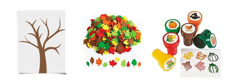 幼児向け秋の工作、紅葉の材料