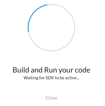 Build and Run Dialog