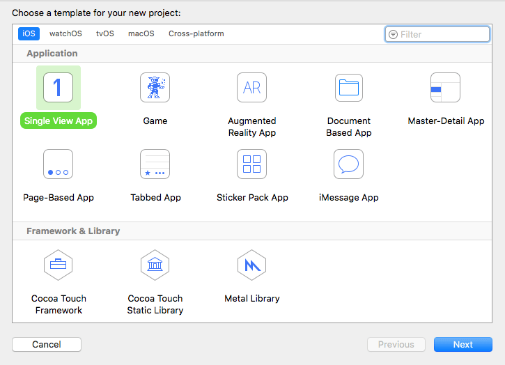 select xcode project for feature flags