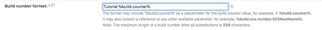 Build Number Format TeamCity