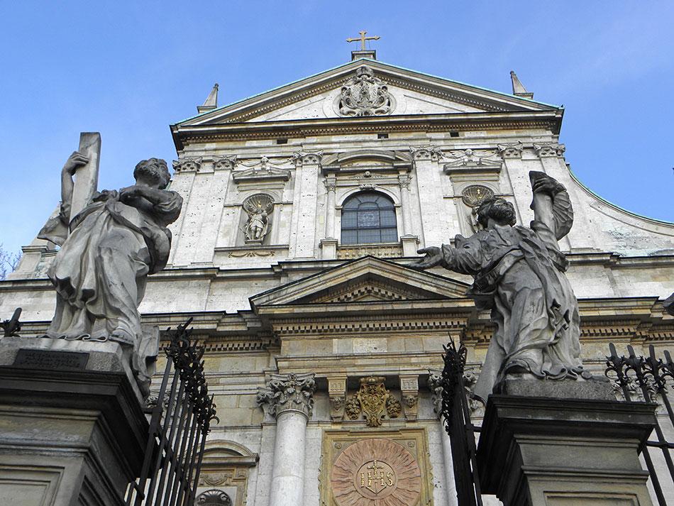 Eglise sur la rue Grodzka à Cracovie en Pologne