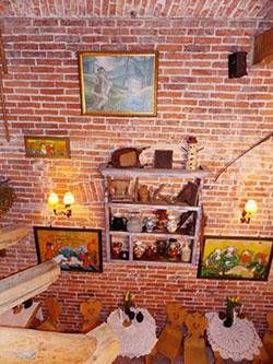 Intérieur du restaurant Morskie Oko à Cracovie en Pologne