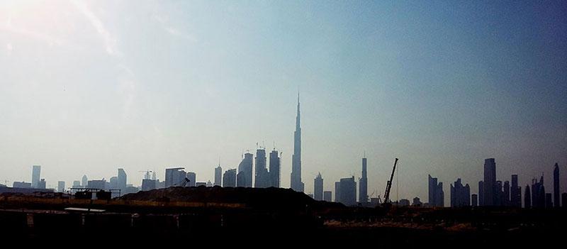 Vue panoramique du quartier moderne de Dubaï