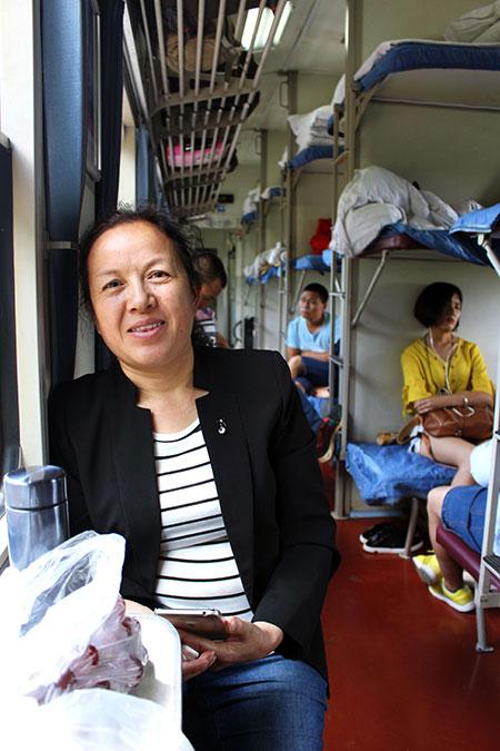 Prendre le train en Chine, c'est aussi faire des rencontres.
