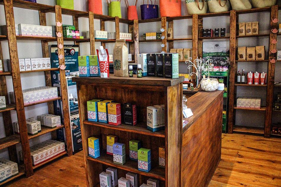 Boutique de rooibos et de buchu à Skimmelberg en Afrique du Sud