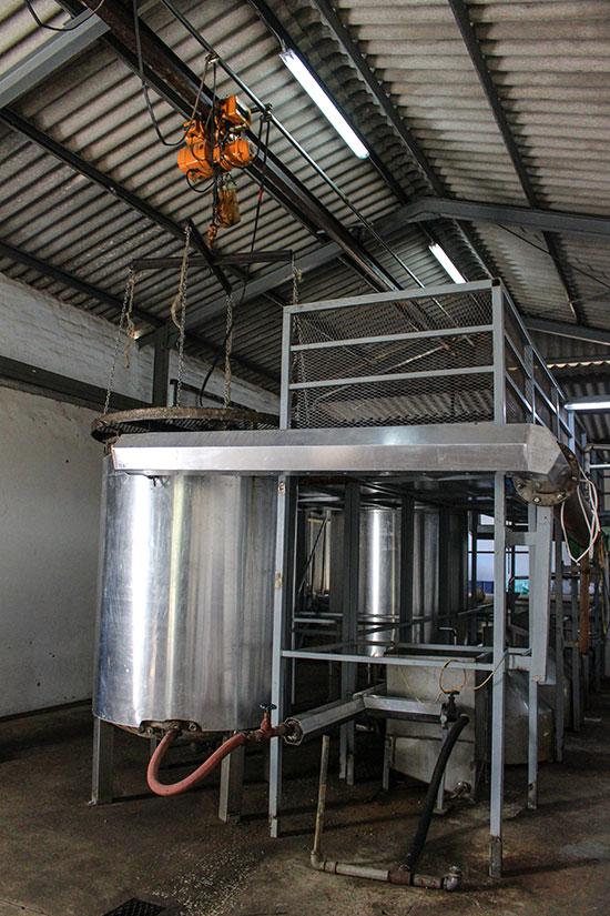 Distillation du buchu à Skimmelberg en Afrique du Sud