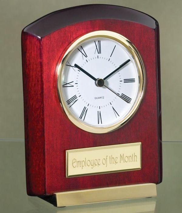 2526G Rosewood Desk Clock