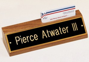535BK Desk Name Plate