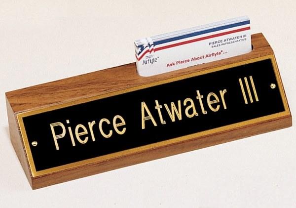 535BK Desk Name Plate