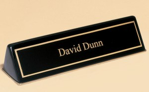 556 Black Desk Name Plate
