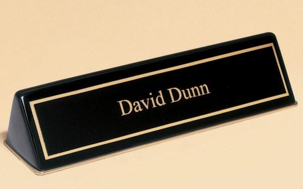 556 Black Desk Name Plate