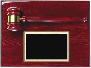 Rosewood Gavel Plaque AGP-30