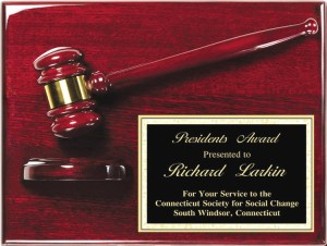 AGP-40 Gavel Plaque