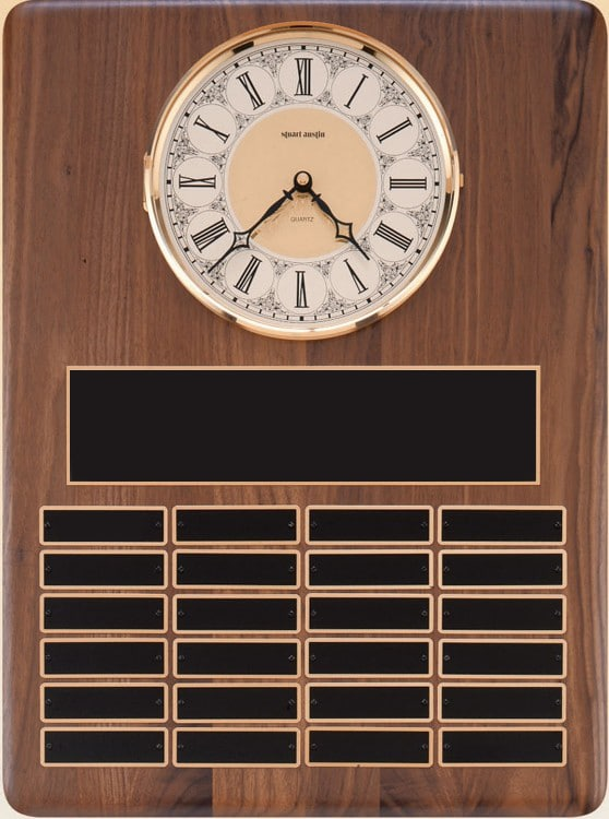 Perpetual Plaque With Clock-4078