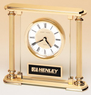 BC9 Gold Pillar Clock