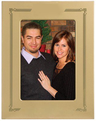Gold Metal Picture Frame-4104
