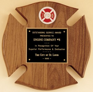 P2790/X Firefighter Maltese Cross Plaque
