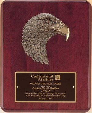 P3754 Rosewood Eagle Plaque