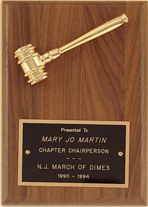 PG2780 Gavel Plaque