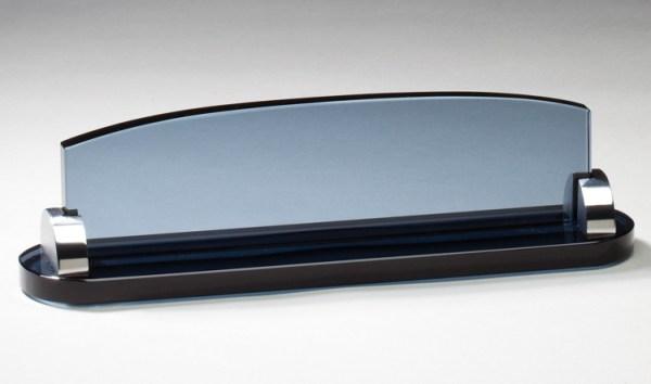 GK15 Smoked Glass Name Plate