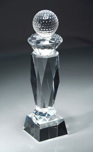 CRY43 Crystal Golf Trophy
