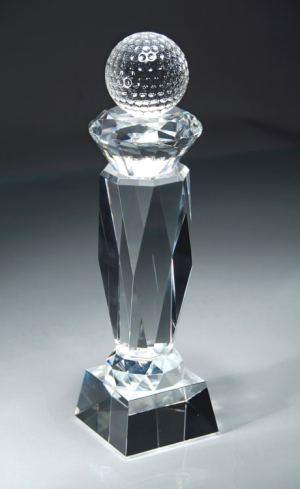 CRY43 Crystal Golf Trophy