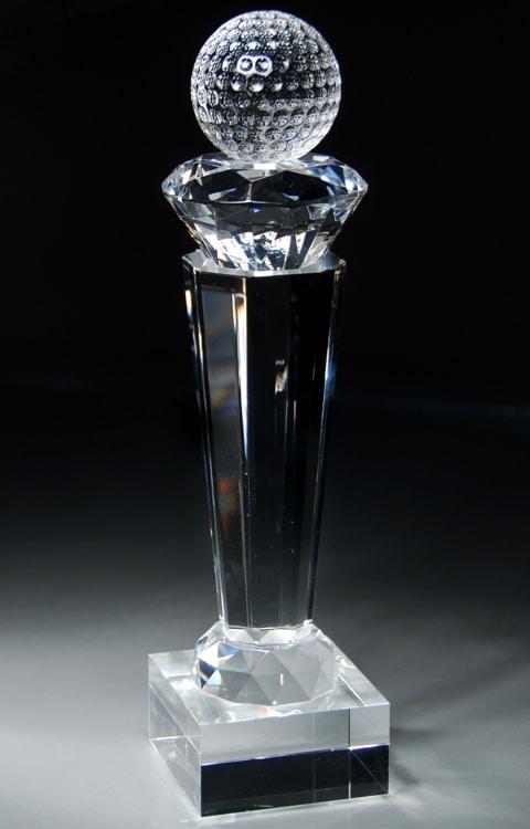 Crystal Golf Ball Trophy CRY44
