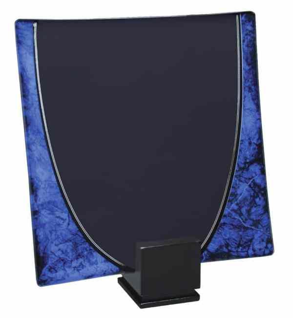 Blue Glass Tray Award-4329