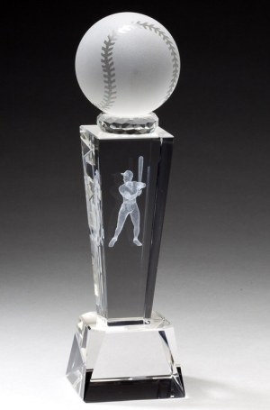 Crystal Baseball Trophy CRY210