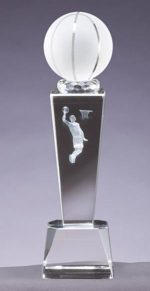 Crystal Basketball Trophy CRY211