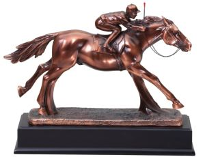Horse & Jockey Statue RFB233